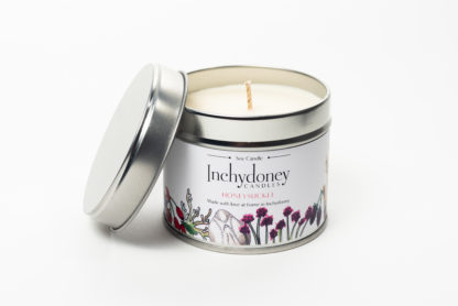 soy wax candles in travel tin